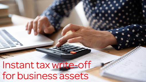 Instant tax write-off for business assets